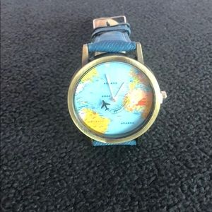 Accessories - Denim band Globe 🌏 face WATCH